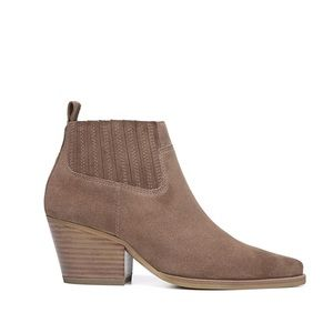 NEW Franco Sarto Suede Ankle Booties
